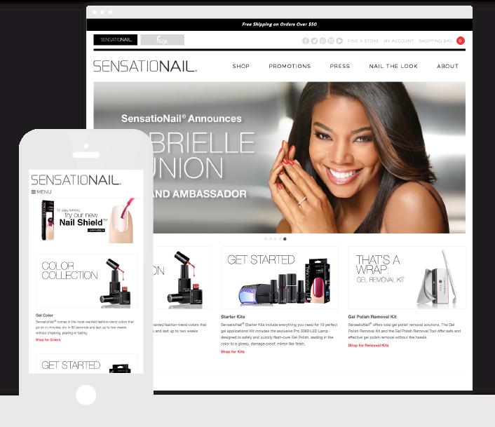 The Sensationail website