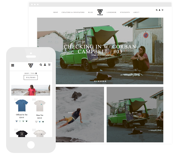 The Vissla website