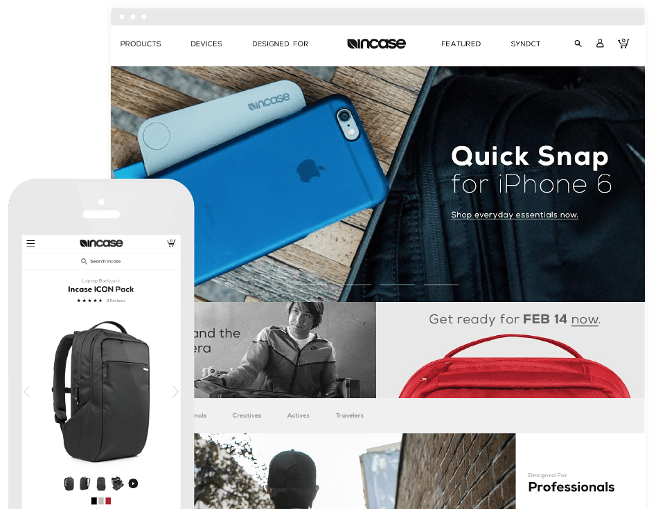 Incase website
