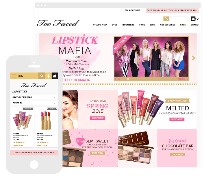 The Too Faced website