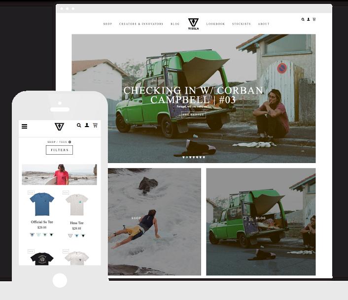 The Vissla website